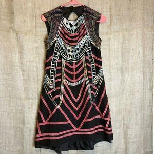 Nanette Lepore Dress SZ 2 Keyhole 100% Silk